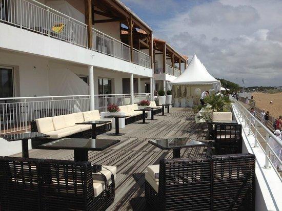 La Residence Belle Plage : Terrasse pour les évènements - Mariages