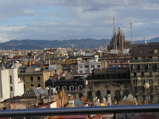 Hotel HCC Regente: Sagrada Familia  seen  from the roof  of the Regente