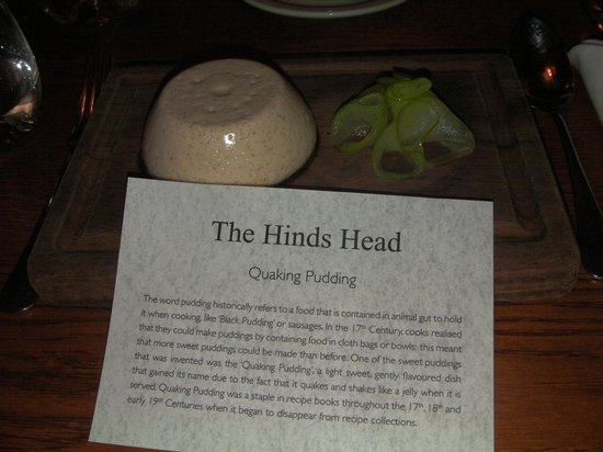 The Hind's Head, Bray: Quaking Pudding