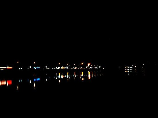 Futala Lake: At night. .