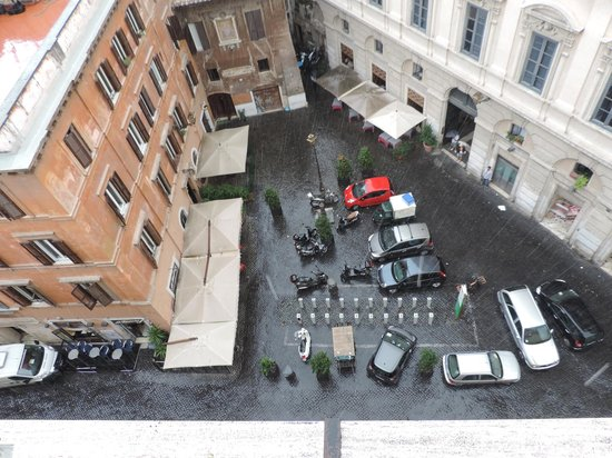 Boutique Hotel Campo de Fiori: A view from the roof top. This area below gets loud at night. It's the crowd's meeting place.