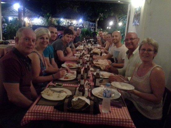 Shah Baba Indian Restaurant Australian Big Group Enjoying Indain Food After Wedding Ceremony