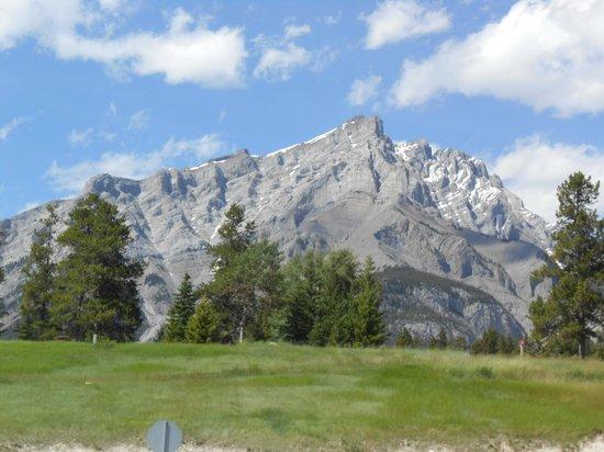 Canmore Nordic Centre Provincial Park: le nordic centre - vue sur les Rocheuses