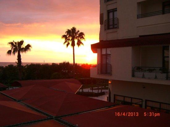 Miramare Queen Hotel: Sonnenuntergang