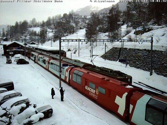 Hotel Grischuna : vertrek Glacier Express