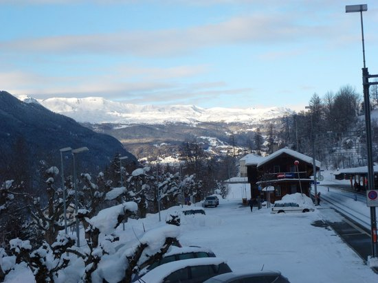 Hotel Grischuna : uitzicht vanaf hotel