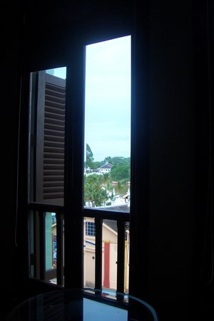 The Ranee Boutique Suites: View from the bed in Room 201