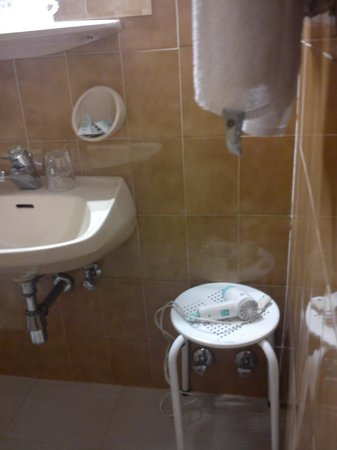 Grand Hotel Bellevue: vista bagno