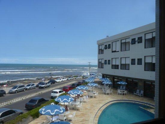 Dunas Praia Hotel: Hotel Dunas Prais em Torres - vista da piscina e praia