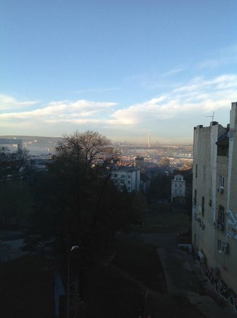Balkan Orient Express Hotel : Belgrade, morning view form hotel room