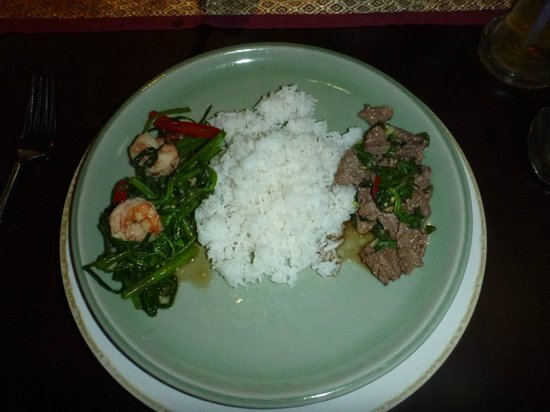 Sala Thai Restaurant : My plate built and ready to eat!