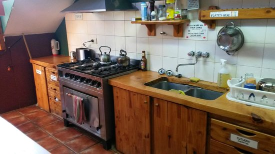 Hostel 41 Below : Kitchen, not big but offers everything one needs, fully stocked