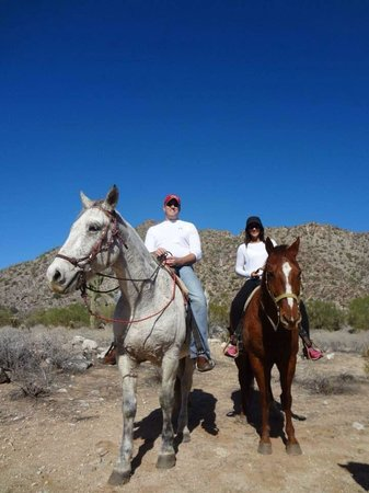 White Tanks Riding Stables: Horses Scout and Grave Digger were a Perfect fit for us!! Giddy up!!