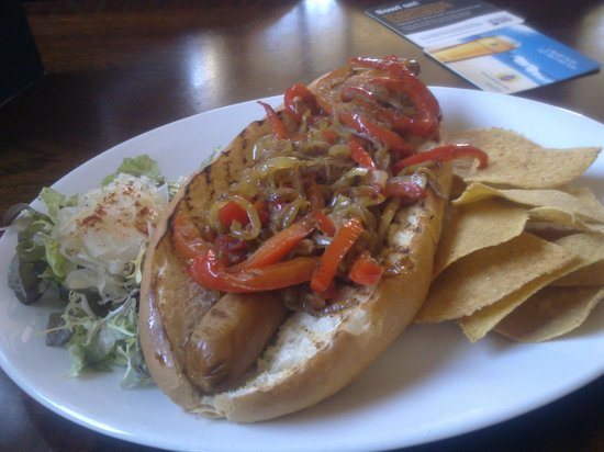 The Gordon Arms: Vegan hotdog!
