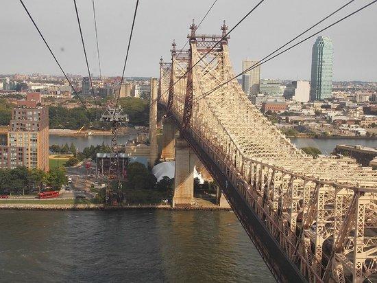 Queensboro Bridge : Vista do Bondinho da Ilha de Roosevelt