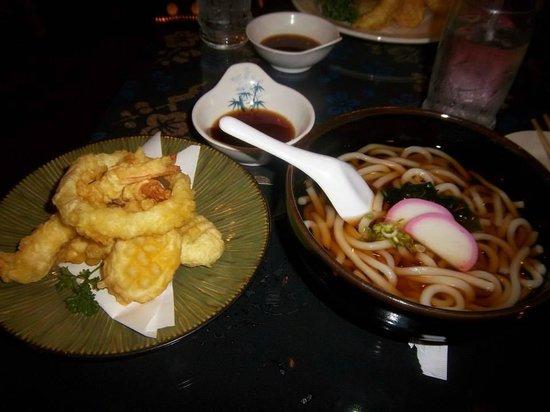 Shingetsu Sushi Bar & Grill: Assorted Tempura and Udon Noodles