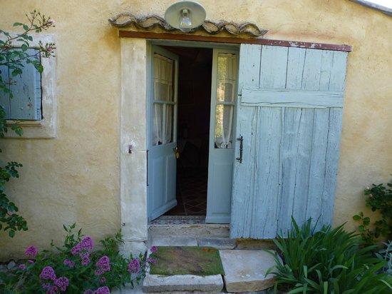 """Au Coquin de Sort : Entrance to our """"hobbit"""" cottage"""