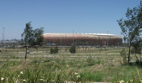 FNB Stadium from a distance.