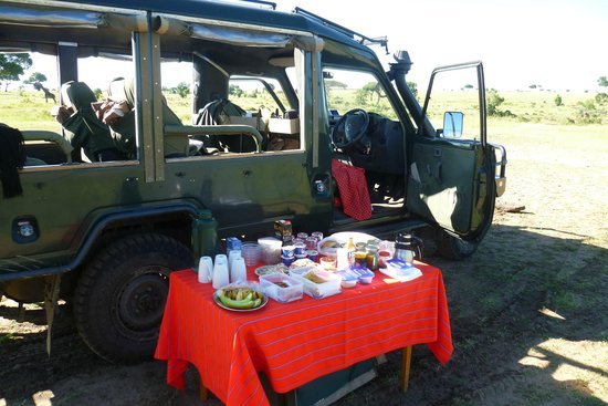 Kicheche Mara Camp: Breakfast by the Mara river
