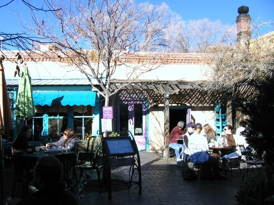 "Outside ""The Shed"" restaurant in Santa Fe, NM"