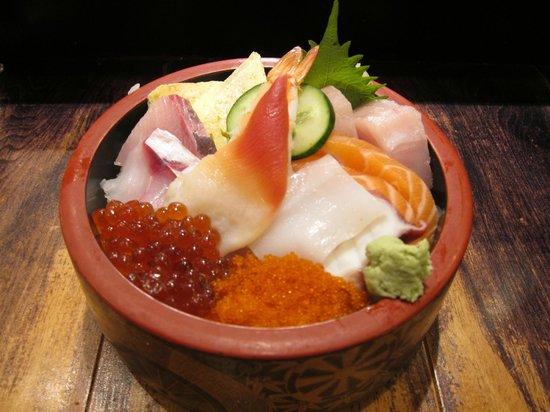 Sockeye salmon sashimi picture of aki restaurant for Aki japanese cuisine