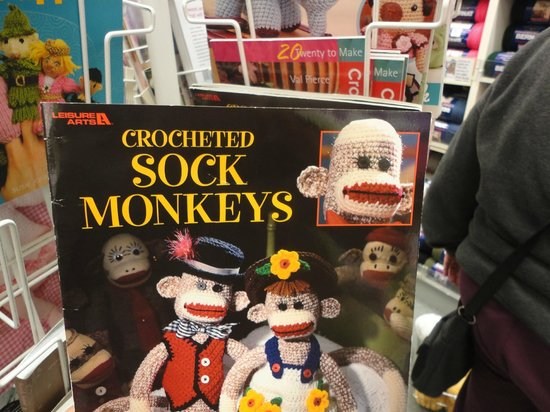 Spinrite Yarns and Dyers: Crocheted Sock Monkeys pattern book at Spinrite Factory Outlet