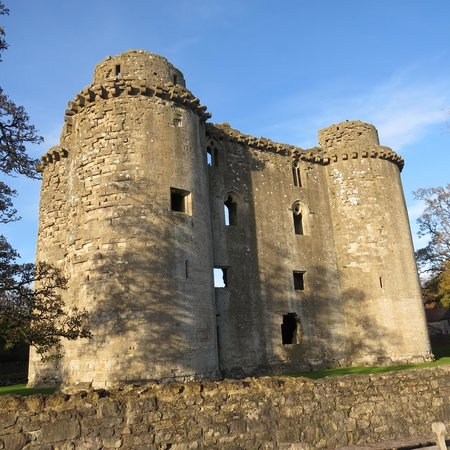 Nunney Castle: Castle from other side of moat