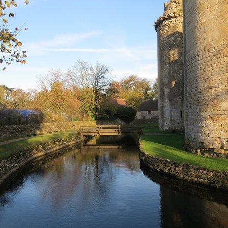 Nunney Castle: Moat