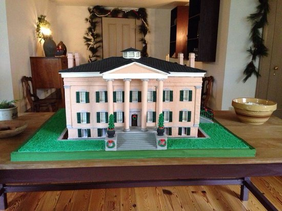 Old Governor's Mansion : Gingerbread replica of the Old Mansion! Part of the Christmas decor-donated!