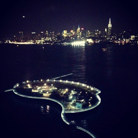 Pier A Park: View at night (from W Hoboken hotel)