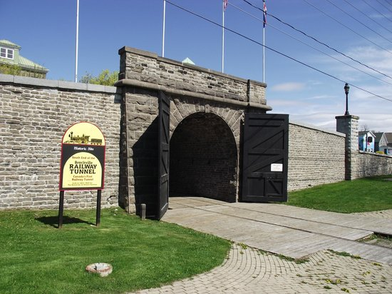 Brockville Railroad Tunnel: The southern opening of the Railway Tunnel.