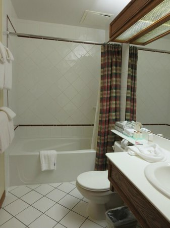 Whistlers Inn: nice big bathroom