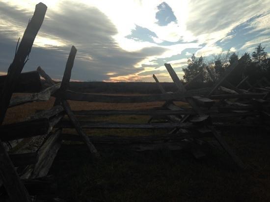 Manassas National Battlefield Park: sunset