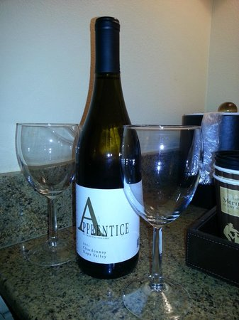 The Meritage Resort and Spa: Complimentary wine