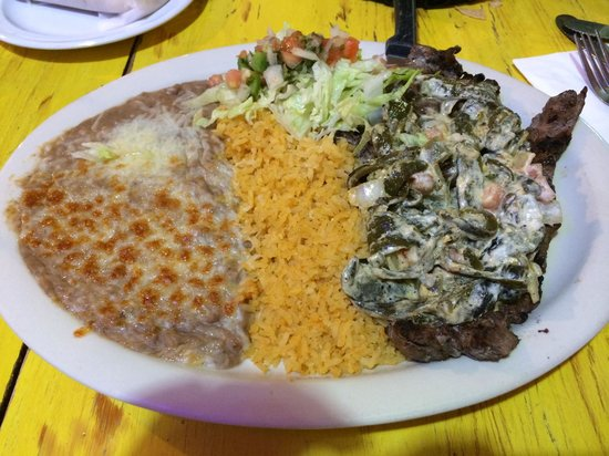 Casa Alvarez: Steak with Poblano Peppers