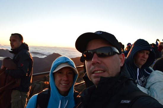 Maui Sunriders: top of the rock