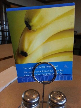 "Holiday Inn Express Hotel & Suites Council Bluffs : The sign showing their ""good"" bananas."