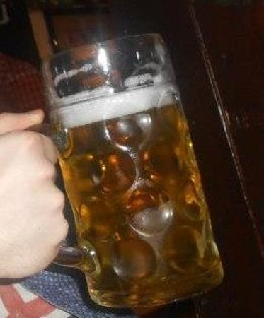 The Tiroler Hut Restaurant: Large Tankard