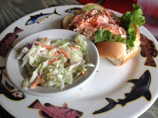 Crabby Bill's Clearwater Beach: Lobster roll and cole slaw