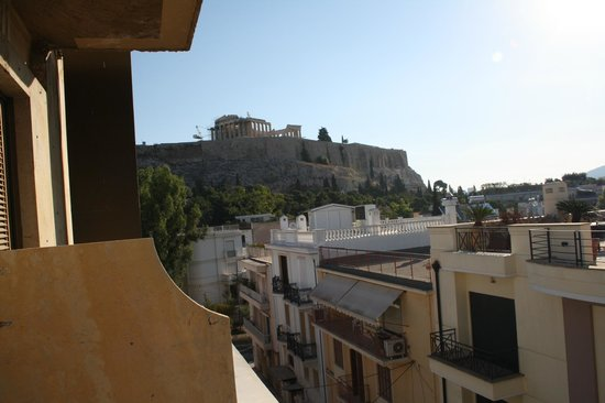 Acropolis View Hotel: View from our room