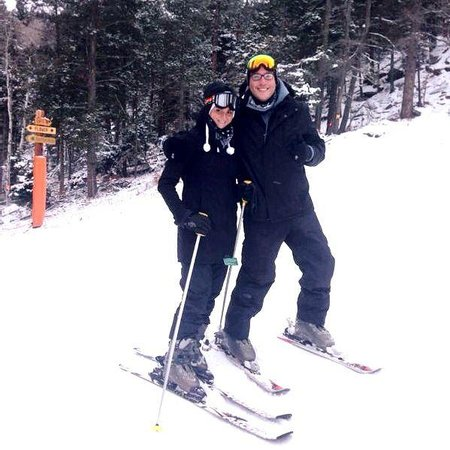 Sipapu Ski & Summer Resort: My husband and I in the Sipapu slopes! Great time!