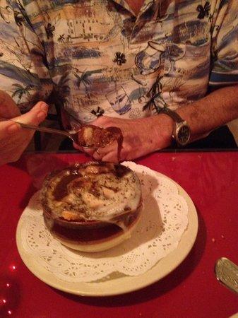 La Strada Italian Restaurant : French Onion Soup!
