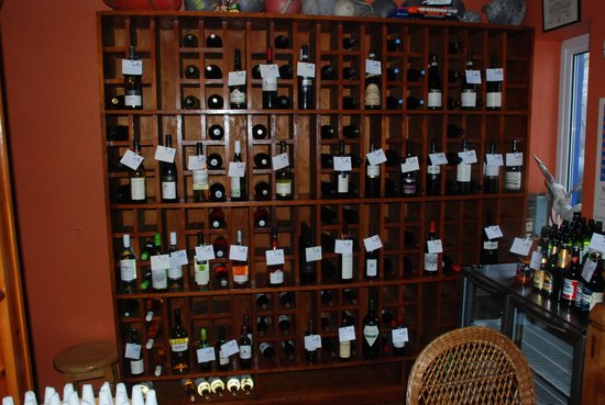 The Heron's Cove: an extensive wine list