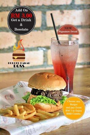 Burger Bakar BOSS: combo set