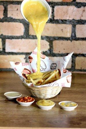 Burger Bakar BOSS: Bosstato with choices of sauce