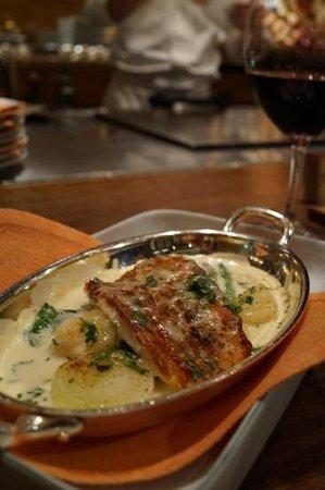 Keyakizaka: excellent fish dish, even if weird in a teppanyaki restaurant