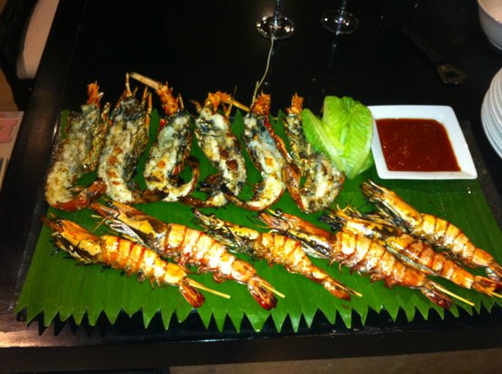 Peppers Seminyak: Delicious BBQ cooked in our villa