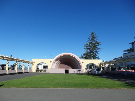 Marine Parade: The Sound Shell built in 1931 - work was going on in May 2013
