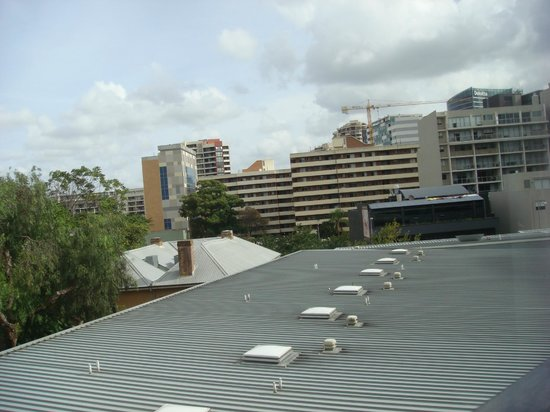 Meriton Suites George Street, Parramatta: Apt 634 (Block D) - View of hotel & grounds from stairs