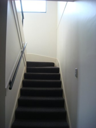 Meriton Suites George Street, Parramatta: Apt 634 (Block D) - stairs from bedroom to Living area